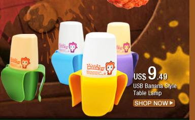 USB Banana Style Table Lamp