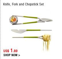 Knife, Fork and Chopstick Set