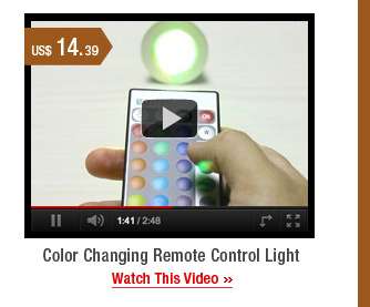 Color Changing Remote Control Light