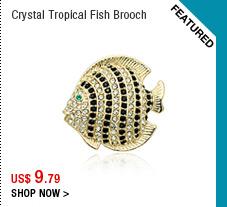 Crystal Tropical Fish Brooch