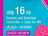 Remote and Nunchuk Controller + Case for Wii