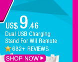 Dual USB Charging Stand For Wii Remote