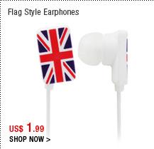 Flag Style Earphones