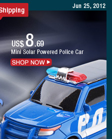 Mini Solar Powered Police Car