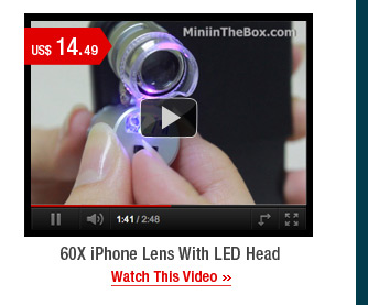60X iPhone Lens With LED Head