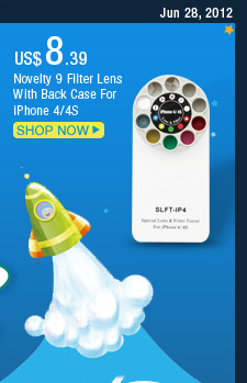 Novelty 9 Filter Lens With Back Case For iPhone 4/4S