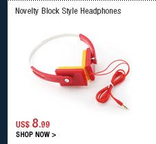 Novelty Block Style Headphones