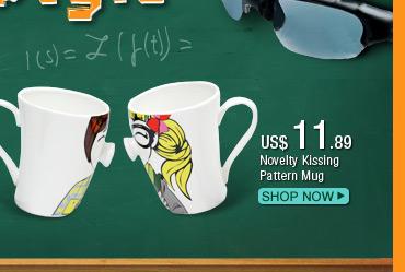 Novelty Kissing Pattern Mug