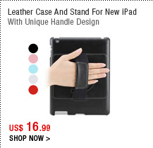 Leather Case And Stand For New iPad