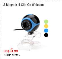 8 Megapixel Clip On Webcam