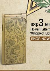 Flower Pattern Carving Windproof Lighter