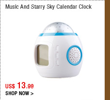 Music And Starry Sky Calendar Clock