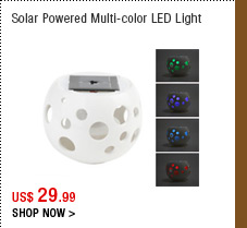 Solar Powered Multi-color LED Light