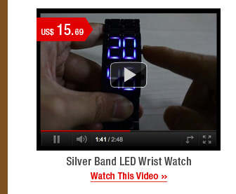 Silver Band LED Wrist Watch