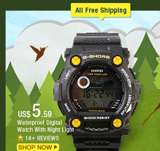 Waterproof Digital Watch With Night Light