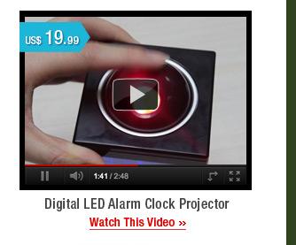 Digital LED Alarm Clock Projector
