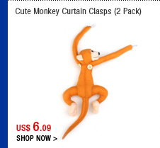 Cute Monkey Curtain Clasps (2 Pack)