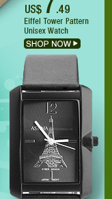 Eiffel Tower Pattern Unisex Watch