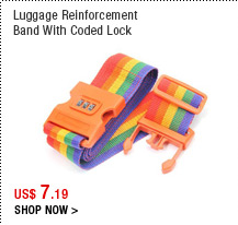 Luggage Reinforcement Band With Coded Lock