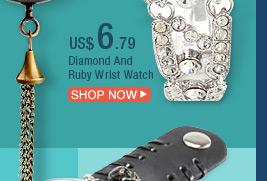 Diamond And Ruby Wrist Watch