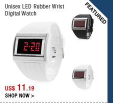 Unisex LED Rubber Wrist Digital Watch