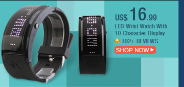 LED Wrist Watch With 10 Character Display