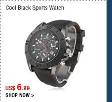 Cool Black Sports Watch