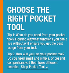 Choose The Right Pocket Tool