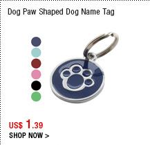 Dog Paw Shaped Dog Name Tag