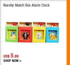 Novelty Match Box Alarm Clock