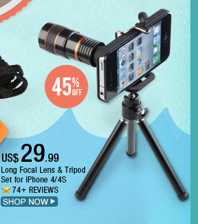 Long Focal Lens & Tripod Set for iPhone 4/4S