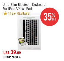 Ultra-Slim Bluetooth Keyboard For iPad 2/New iPad