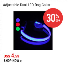 Adjustable Dual LED Dog Collar
