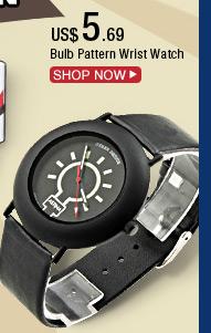 Bulb Pattern Wrist Watch