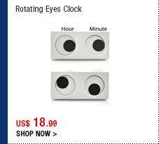 Rotating Eyes Clock