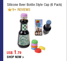 Silicone Beer Bottle Style Cap (6 Pack)