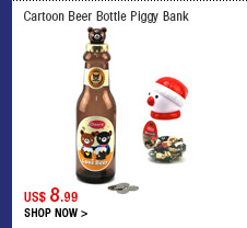 Cartoon Beer Bottle Piggy Bank