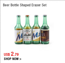 Beer Bottle Shaped Eraser Set