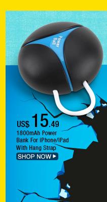 1800mAh Power Bank For iPhone/iPad