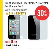 Front and Back Clear Screen Protector For iPhone 4/4S