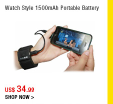 Watch Style 1500mAh Portable Battery