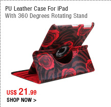 PU Leather Case For iPad