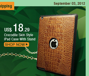 Crocodile Skin Style iPad Case With Stand