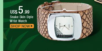 Snake Skin Style Wrist Watch