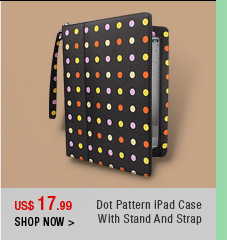 Dot Pattern iPad Case With Stand And Strap