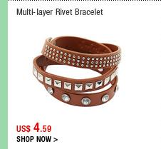 Multi-layer Rivet Bracelet