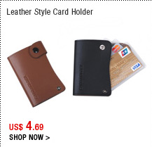 Leather Style Card Holder