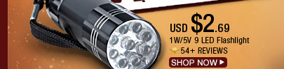 1W/5V 9LED Flashlight