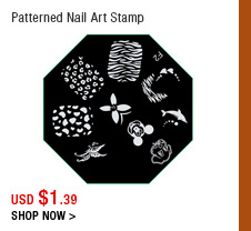 Patterned Nail Art Stamp