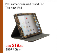 PU Leather Case And Stand For The New iPad
